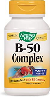 Nature's Way Vitamin B-50 Complex, Capsules, 100-Count