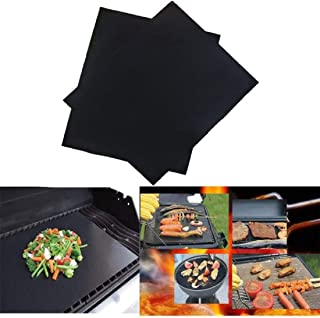 non-stick bbq grill mat set copper smartocity pad renook barbecue baking liners Non-stick BBQ Grill Mat Barbecue Baking Liners Reusable Teflon Cooking Sheets 33x40cm Cooking Tool + Bonues Beer Openers