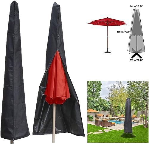 per Ombrello-Ø 2 fino a 4 M GRIGIO colore IMPERMEABILE Custodia per ombrellone a braccio