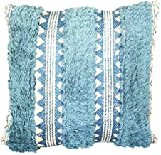 ThymeHome Theo Panel 100% Jute Block Printed Accent 18 18 Throw Pillow