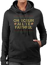 Rugby Christmas Oh Scrum All Ye Faithful Women's Hooded Sweatshirt