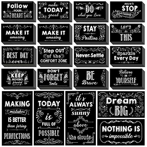 """Whaline 60 Pcs Big Motivational Cards Inspirational Quote Card Encouragement Greeting Card Positive Affirmation Cards with 30 Styles for Graduates Students Employees Appreciation, 2.76"""" x 4.92"""""""
