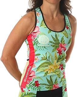 Velorosa Women's Cycling Tank Top with Pockets and Shelf Bra, Ladies T-Back Active Sleeveless Bike Jersey