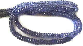 Natural Tanzanite Faceted Rondelle Beads, Tanzanite Beads, 2.5mm To 4.5mm, 16 Inch Strand, GDS811