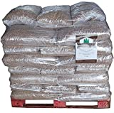 Secpell Palet de Pellets de Pino sin Corteza Combustible para Chimeneas y Calderas Pellet de Madera para Estufas
