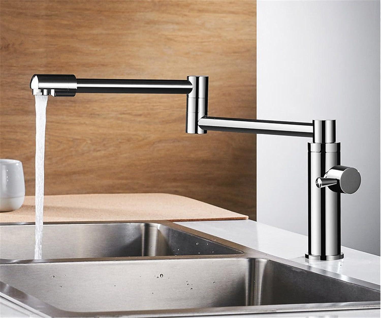 MGADERO Wasserhahn Bad Waschtischarmatur Messing kaltes Wasser Pull-out-Schwenkbare Einhebelbedienung einzelne Bohrung Waschbecken Badarmatur Mischbatterie Waschbeckenarmatur für Bad
