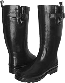 Solid Ladies Tall Sporty Body Rubber Rain Boot