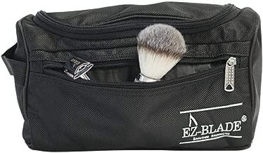 Mens Shaving Kit Safety Razor Wet Shaving Kit (8 Piece) Toiletry Bag Shave Soap, shave oil, aftershave, badger brush, bowl, and more!