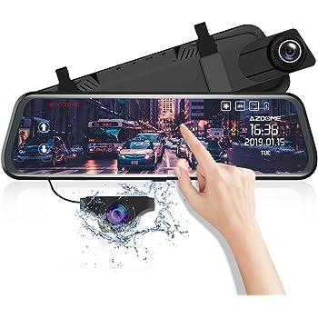X1PRO Streaming Dashcam con schermo tattile da 9,88 FHD 1080P telecamera posteriore impermeabile con visione notturna,WDR,LDWS,GPS fotocamera anteriore e posteriore 720P AHD IP68