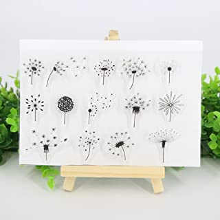 Bduco Clear Stamps Sheets Transparent Silicone Seal for DIY Scrapbooking Card Making Photo Album Decorative (Dandelion)