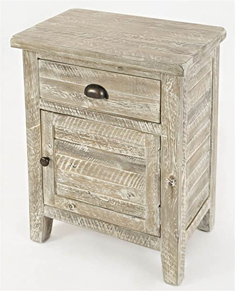 Jofran 1743 20 Artisan S Craft Accent Table Washed Grey 20 W X 13 D X 25 H Finish Set Of 1