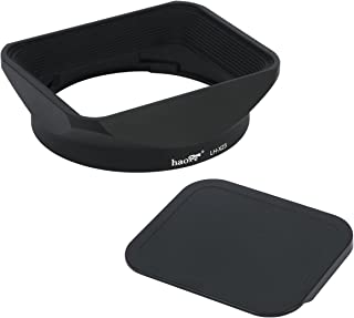 Haoge lh-x23正方形メタルレンズフードシェードwith Cap for Fujifilm Fuji Fujinon 23mm f1. 4XF Rレンズ