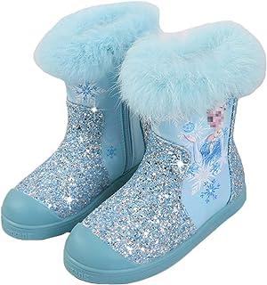 LOBTY Chaussures de Neige Filles Princesse Filles Princesse Chaussures fête Paillettes Chaussures à Talons Enfants Sandale...