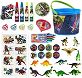 Party City Jurassic World Ultimate Favor Supplies for 8 Guests, Include Favor Buckets, Tattoos, Crayons, Toys, and More
