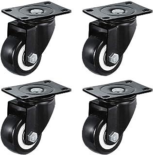 Set van 4 zwenkwielen 40/50/63mm Zwaarlast zwenkwielen met veiligheidsrem Geluidsarme wielen 240kg Zwenkwielen voor meubel...