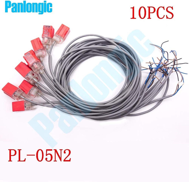 Panlongic 10 PCS Proximity Sensor Switches PL05N2 5mm DC 1030V NPN NC Normal Close for 3D Printer Parts