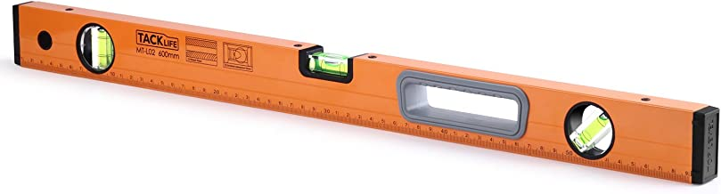 Box Level, Tacklife MT-L02 24-Inch Level Aluminum Alloy Magnetic Torpedo Level Plumb/Level/45-Degree Measuring Shock Resistant Magnetic Level with Imperial & Metric Scales