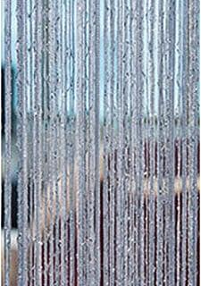 1 rideau de porte à pompon de 2 m avec perles, rideau de séparation de pièce, rideau de perles, à suspendre sur la porte d...