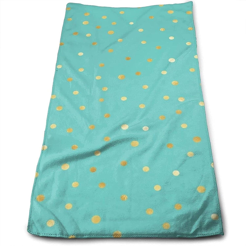Epushow Holiday Gold Confetti Repeat Design Handkerchief Kitchen Bathroom Handkerchief Soft Polyester Microfiber
