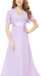 Evening Dresses Padded Trailing Flutter Sleeve Women Gown New Chiffon Summer Style Special Occasion