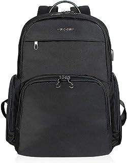 KROSER Laptop Backpack 15.6 Inch School Computer Backpack College Casual Daypack Travel Business Laptop Bag Water-Repellent with USB Charging Port for Women Men-Black
