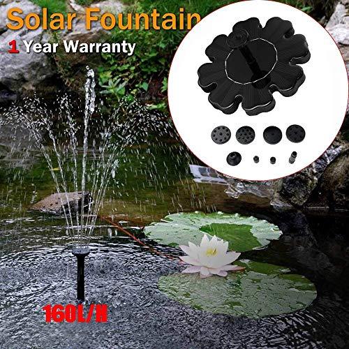 Celiy Solar Aquarium, Outdoor Solar Powered Bird Bath Water Fountain Pump for Pool, Garden, Aquarium, Accessories Home Easter Decorations Gifts