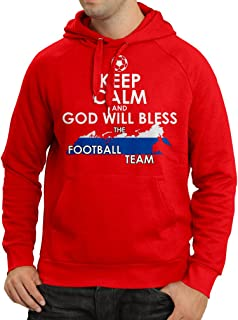 N4509H Hoodie Keep Calm and God Will Bless Russia National Football Team