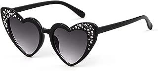 Heart Sunglasse Polarized Vintage Retro Cat Eye Oversized Glasses UV400 Protection