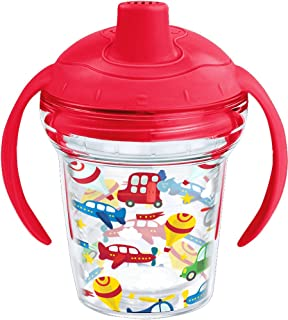 Tervis 1248789 Cars Planes and Balloons Sippy Cup With Lid, 6 oz, Clear