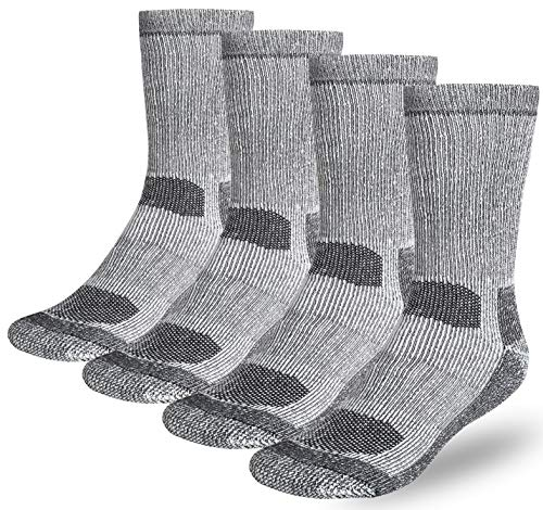 Buttons & Pleats Wool Socks for Men Women 80% Merino Thermal Warm Cozy Winter Fuzzy Boot Sock Charcoal ML