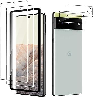 YiOne For Google Pixel 6ガラスフィルム[2枚]カメラフィルム[2枚]強化ガラス液晶保護フィルム 強化ガラス同等の硬度 高硬度9H素材採用 透過率99.9% 防指紋 飛散防止 気泡防止