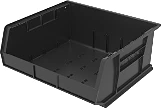 Akro-Mils 30250 Plastic Storage Stacking Hanging Akro Bin, 15-Inch by 16-Inch by 7-Inch, Black, Case of 6