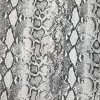 Off White Grey Snake Skin Print Hi-Multi Chiffon Fabric