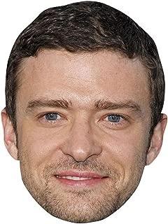 Justin Timberlake Celebrity Mask, Card Face and Fancy Dress Mask