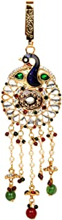 Payal Jewellers PJ Gold Plated Blue Resin Traditional Waist Key Chain for Women