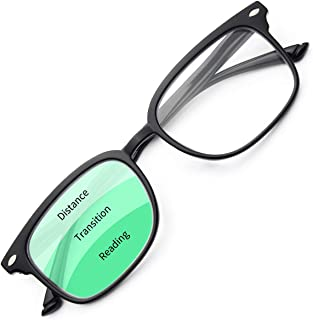 Gaoye Progressive Multifocus Reading Glasses Blue Light Blocking for Women Men,No Line Multifocal Readers with Spring Hinge