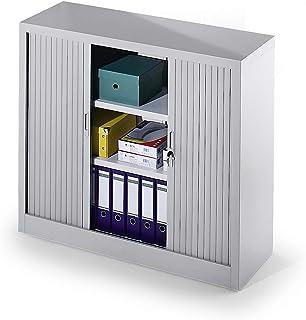 Armoire à rideaux, démontable - h x l x p 1070 x 1200 x 450 mm - 2 tablettes - Armoire Armoire métallique Armoire pour bur...