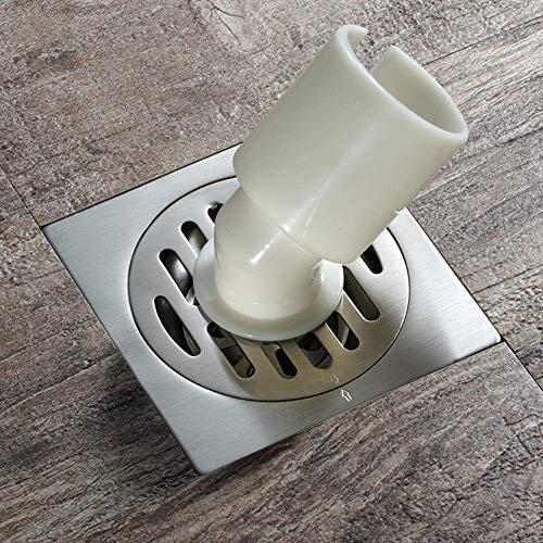 KLMNV; KLBVB Vloerafvoer Douchekanaal, RVS wasmachine, anti-insectenspoelbak/deodorant/antiblokkering, verwijderbare sifon 100X100mm