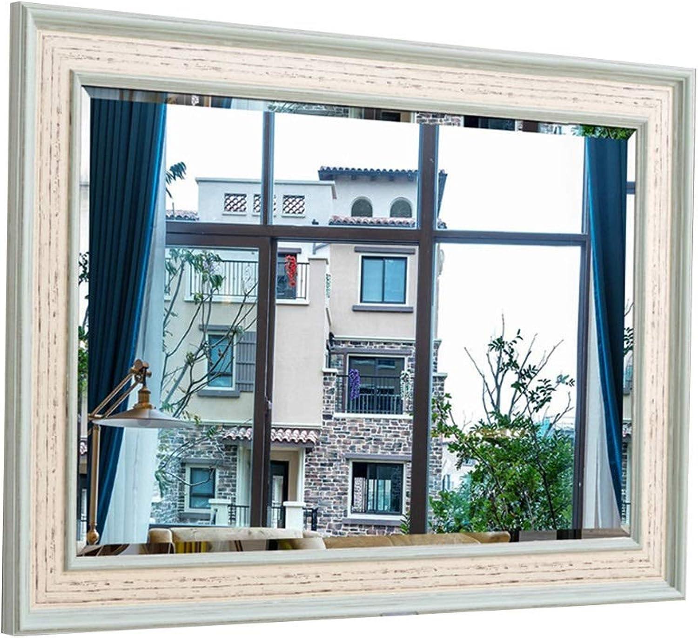 Wall-Mounted Mirrors Mirror Girl's Vanity Mirror Wall Mirror Bathroom Makeup Mirror Corridor Full Body Mirror Living Room Wall Mirror Beauty Mirror Bedroom Mirror (color   bluee, Size   50  70cm)