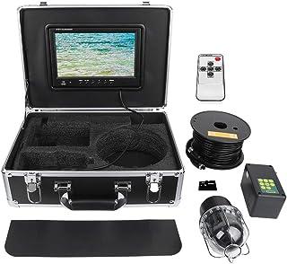 Buscador de peces con cable de 100 m, cámara de pesca impermeable IP68 de 9 pulgadas, cámara de video de pesca submarina c...