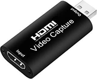 Iycorish Audio Video Capture Cards HDMI to USB 2.0 1080P 4K Record Via DSLR Camcorder Action Cam for High Definition Acqui...