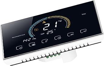 Thermostat intelligent, thermostat à écran tactile pas facile à endommager température librement commutable pour bureau po...