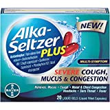 Alka-Seltzer Plus Severe Strength Cough, Mucus and Congestion Medicine, Liquid Gels for adults, 20 Count