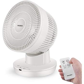FOCHEA サーキュレーター 2020最新モデル 扇風機 静音 左右自動首振り パワフル送風 6段階風量 7時間タイマー機能 DCモーター搭載 リモコン付 タッチパネル 省エネ 節電 送風機 洗濯乾燥 部屋干し ホワイト