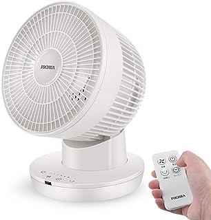 FOCHEA サーキュレーター 静音 左右自動首振り パワフル送風 6段階風量 7時間タイマー機能 DCモーター搭載 リモコン付 タッチパネル 省エネ 節電 送風機 洗濯乾燥 部屋干し ホワイト