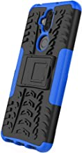 XINFENGDI Asus ZenFone 5 Lite ZC600KL Case,TPU+PU Shock-Absorbing Scratch-Resistant Back Cover with Air Cushion Technology,Anti-Slip Phone Cover for Asus ZenFone 5 Lite ZC600KL - Blue