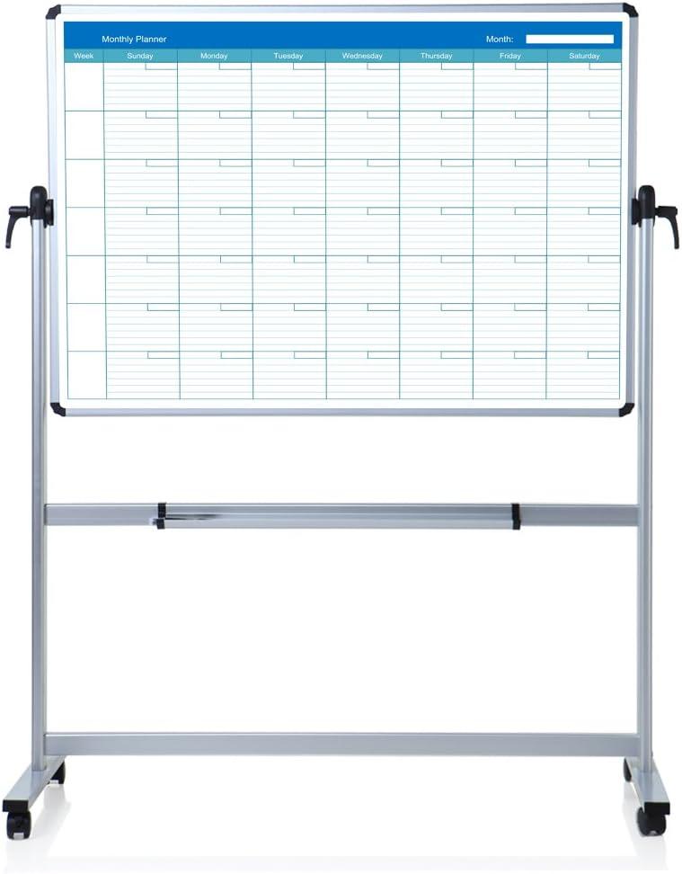 定番キャンバス VIZ-PRO Double Sided Magnetic Planner 送料無料(一部地域を除く) Monthly Whiteboard Mobile