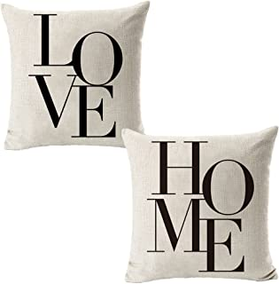 All Smiles Decorative Pillow Covers Cases 18×18 Set of 2 Farmhouse Decor..