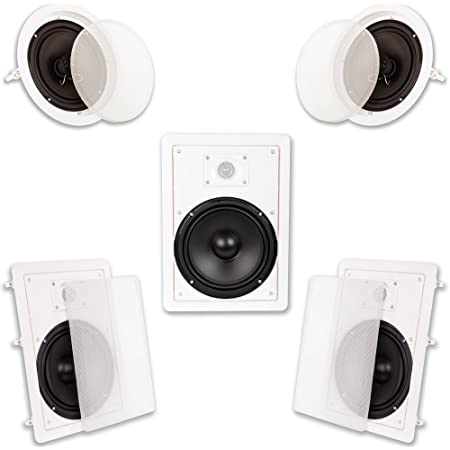 Acoustic Audio HT-85 5.1 Home Theater Bocina System (White)