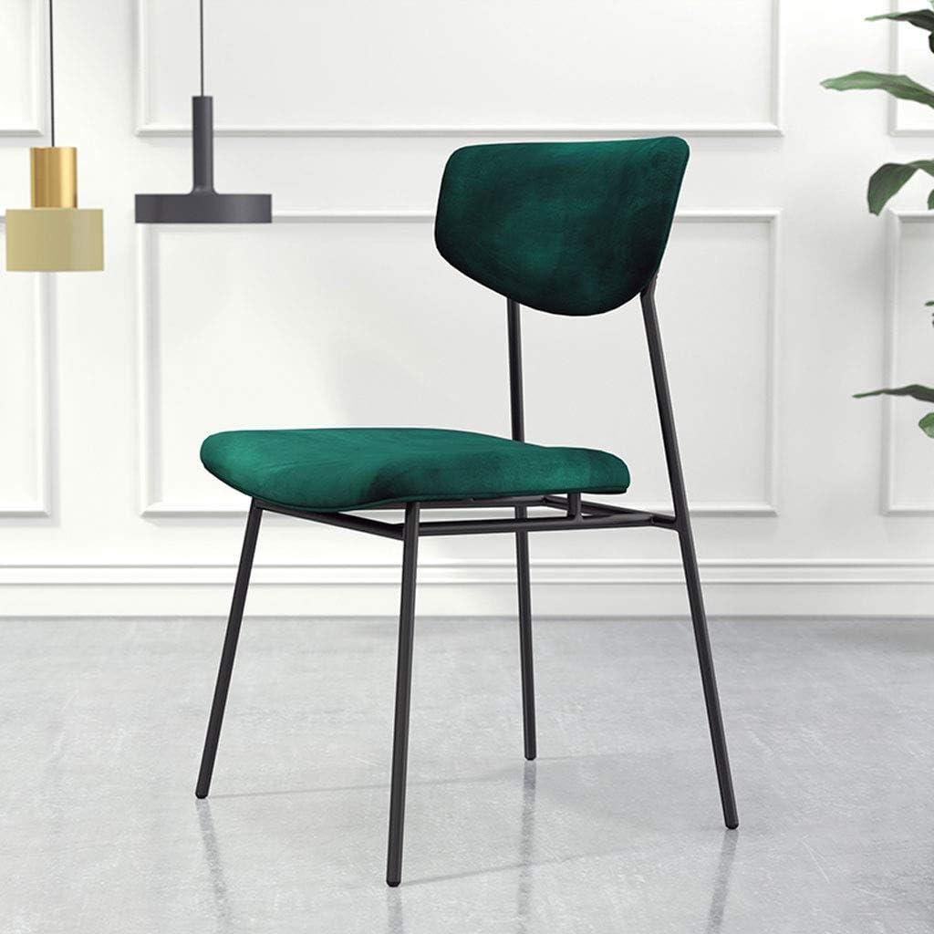 Président WGZ- Chaise de Salle à Manger plaquée en Or, Minimaliste Moderne, Chaise de Restaurant, Chaise de création, Tabouret de Dossier Simple (Color : A) D